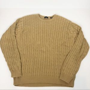 Izod caramel color cotton crew neck sweater